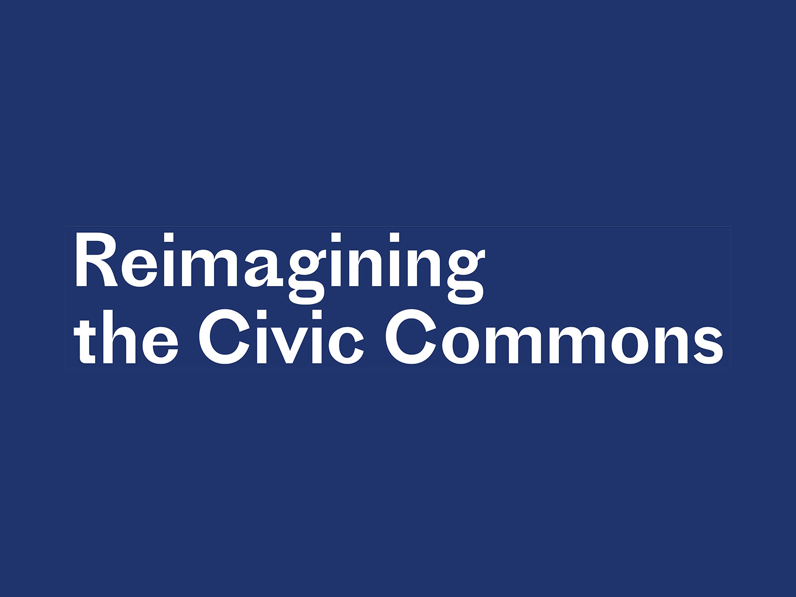 Reimagining the Civic Commons